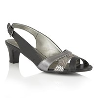Lotus Valeria Open Toe Sandals Black