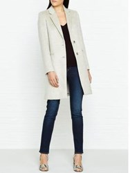 Jigsaw City Wool Coat Oyster