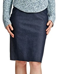 424 Fifth Career Denim Pencil Skirt Midnight Blue