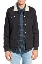 Obey Men's Colton Faux Shearling Collar And Lined Twill Jacket