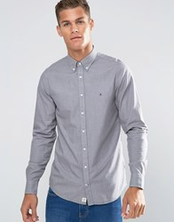 Tommy Hilfiger Shirt In Cotton Twill Slim Fit Grey 08578A0709
