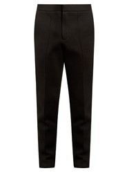 Alexander Wang Seamed Front Neoprene Tailored Track Pants Black