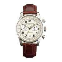 J.Crew Mougin And Piquardtm Chronovintage Watch Ivory Silver