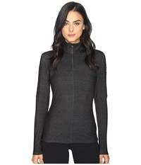 Spyder Lapis Therma Stretch T Neck Top Black Women's Long Sleeve Pullover