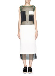Toga Archives Skirt Overlay Patchwork Mesh Dress Multi Colour