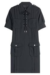 Marc By Marc Jacobs Dress With Lace Up Front Black