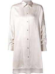 Dusan Oversized Shirt Nude And Neutrals