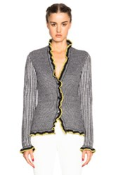 Etro Fitted Cardigan In Black Stripes Black Stripes