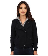 Obey Germain Hooded Jacket Dark Navy Women's Coat