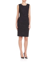 Pauw Belted Jacquard Sheath Black