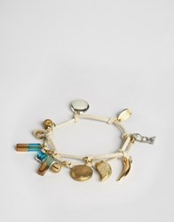Sam Ubhi Wrap Around Bracelet With Charms Multi