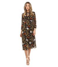 Theory Jiltrey Dress Marigold Print Women's Dress Multi