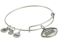 Alex And Ani New York Giants Football Charm Bangle Rafaelian Silver Finish Bracelet
