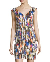 French Connection Streak Print Sleeveless Sheath Dress Prince Rocks Multi