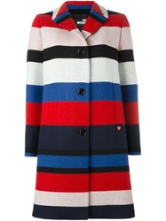 Love Moschino Striped Coat Multicolour