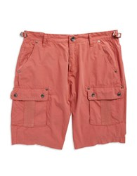 Guess Cotton Cargo Shorts Red