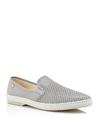 Rivieras Classic 20 Woven Slip On Sneakers Grey