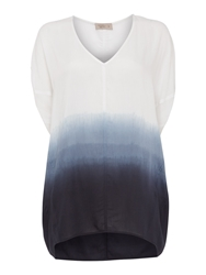 Label Lab Dip Dye Cocoon Blouse Blue