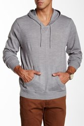 Yoki Long Sleeve Hooded Sweater Gray