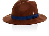 Larose Paris Men's Small Fedora Tan