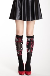 Betsey Johnson Good Vs. Bad Sport Knee Sock