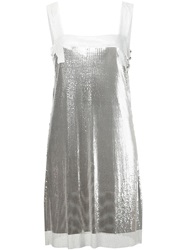 Paco Rabanne Metallic Mesh Mini Dress
