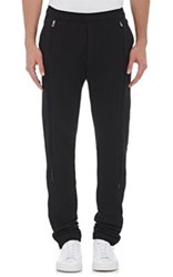 Hood By Air Men's Zipper Detailed French Terry Jogger Pants Black