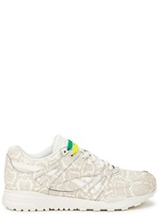 Reebok Ventilator White Snake Print Leather Trainers