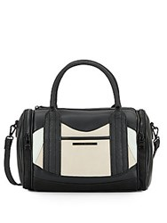 Steve Madden Benson Colorblock Faux Leather Satchel Blush Multi