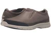 Dockers Garvey Light Grey Tumbled Nubuck Men's Slip On Shoes Brown