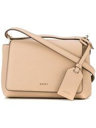 Dkny Flap Crossbody Bag Nude Neutrals