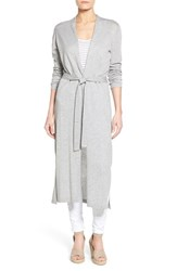 Women's Press Long Belted Cardigan Cool Grey Mix
