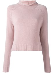Ralph Lauren Funnel Neck Sweater Pink And Purple