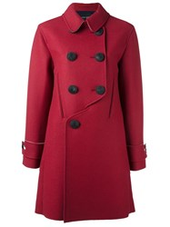 Cedric Charlier Double Breasted Coat Red
