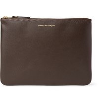 Comme Des Garcons Leather Pouch Chocolate