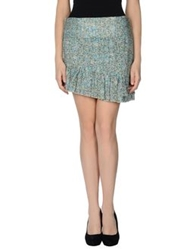 Patrizia Pepe Mini Skirts Pastel Blue