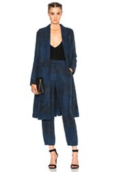 Raquel Allegra Swing Duster Coat In Blue Ombre And Tie Dye Blue Ombre And Tie Dye