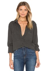 Bella Dahl Two Pocket Button Up Gray