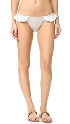 For Love And Lemons St. Tropez Bikini Bottoms Ivory