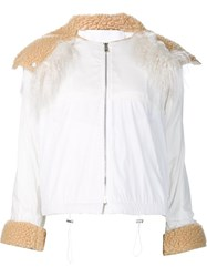 Paco Rabanne Cropped Hood Jacket White