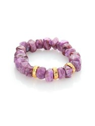 Nest Purple Agate Stretch Bracelet