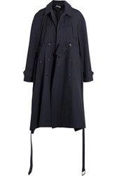 Balenciaga Oversized Cotton Trench Coat Navy