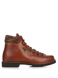 Missoni X Diemme Leather Hiking Boots Brown
