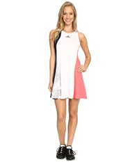 Adidas Stella Mccartney Barricade Dress Collegiate Navy White Flash Red Oyster Grey Women's Active Sets