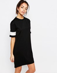 New Look Varsity Sweat Dress Black Pattern