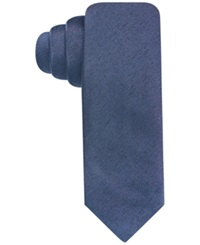 Alfani Red Fall Solid Skinny Tie Navy