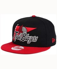 New Era Portland Trail Blazers Hwc Logo Stacker 9Fifty Snapback Cap Black Red