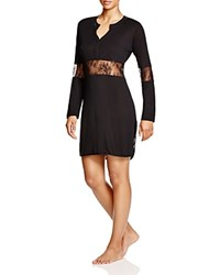 La Perla Eva Long Sleeve Nightgown Black