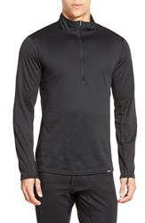 Men's Patagonia 'Capilene Midweight' Base Layer Half Zip T Shirt Black