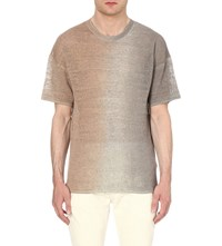 Allsaints Solstice Cotton Knitted T Shirt Qutz Pnk Stepl